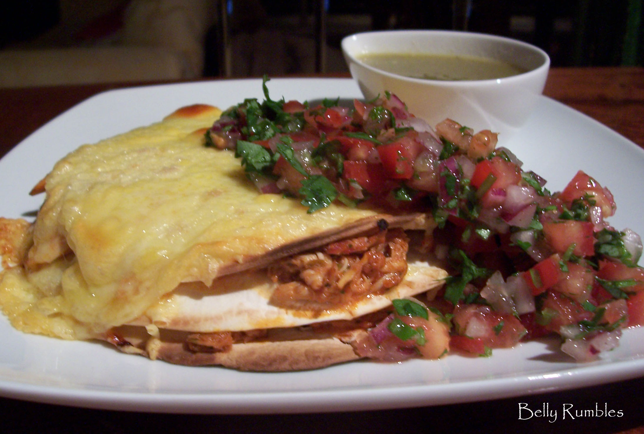 Daring Cooks Challenge, May – Stacked Green Chile & Grilled Chicken Enchilada
