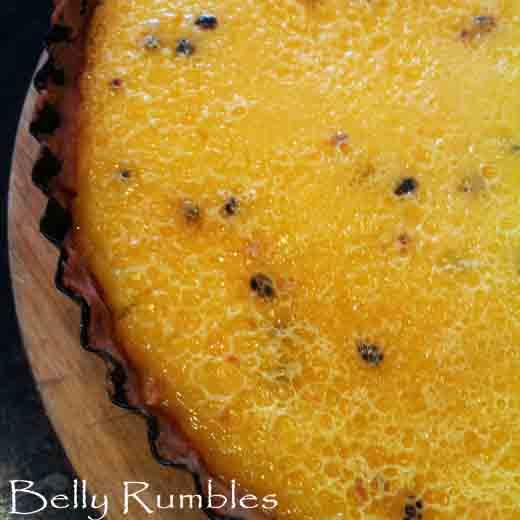 Passionfruit Curd Tart Brûlée