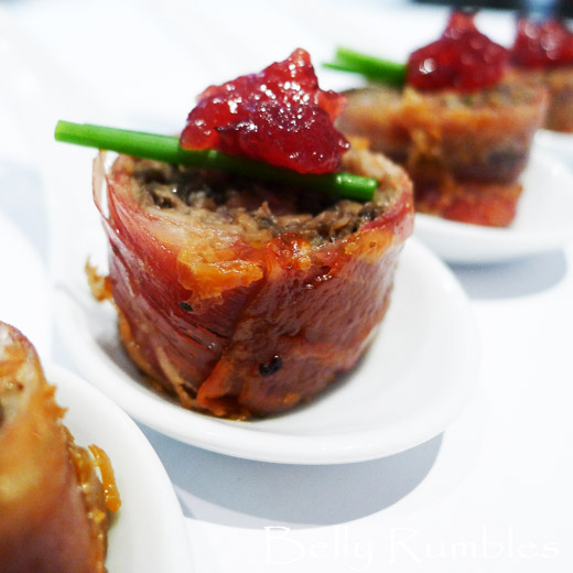 Mushroom prosciutto canap for Japanese canape