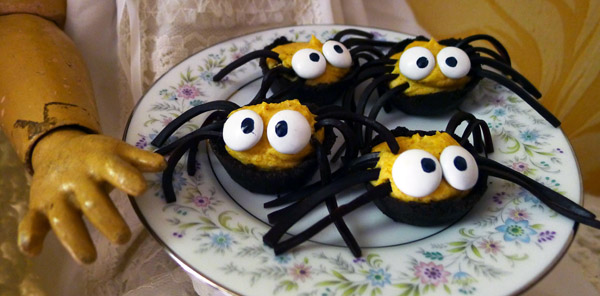 Halloween Recipe:  Creepy Chocolate & Pumpkin Spiders