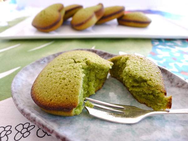 Recipe:  Green Tea Financier Hearts