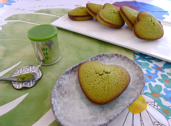 Green Tea Financier Hearts