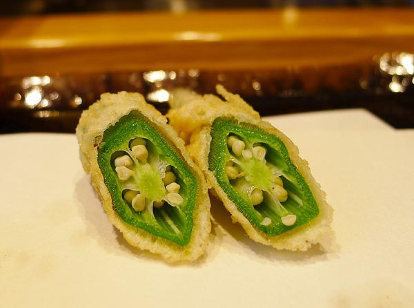 tenichi okra tempura