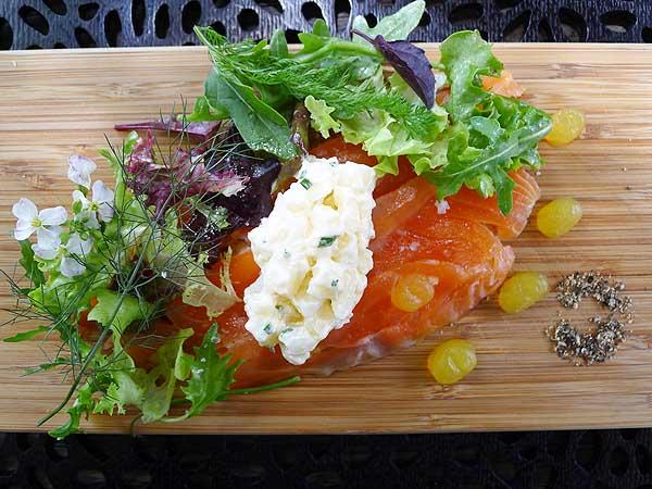Lochiel House gin cured salmon