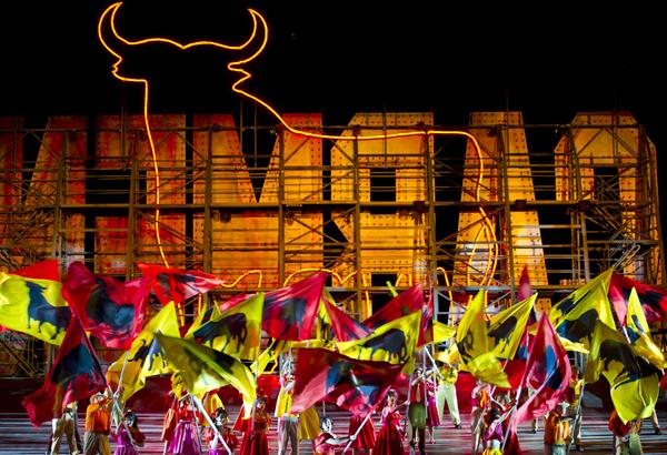 Dancers in Handa Opera on Sydney Harbour - Carmen 2013. Photo by James Morgan_2571