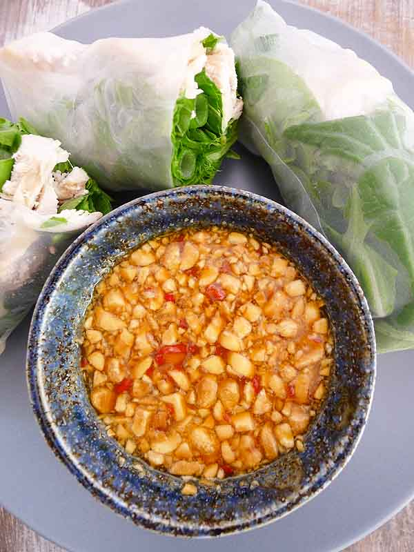 Passionfruit Dipping Sauce: Spicy with zing, perfect to dip almost anything. Amazing with fresh rice paper rolls | www.bellyrumbles.com