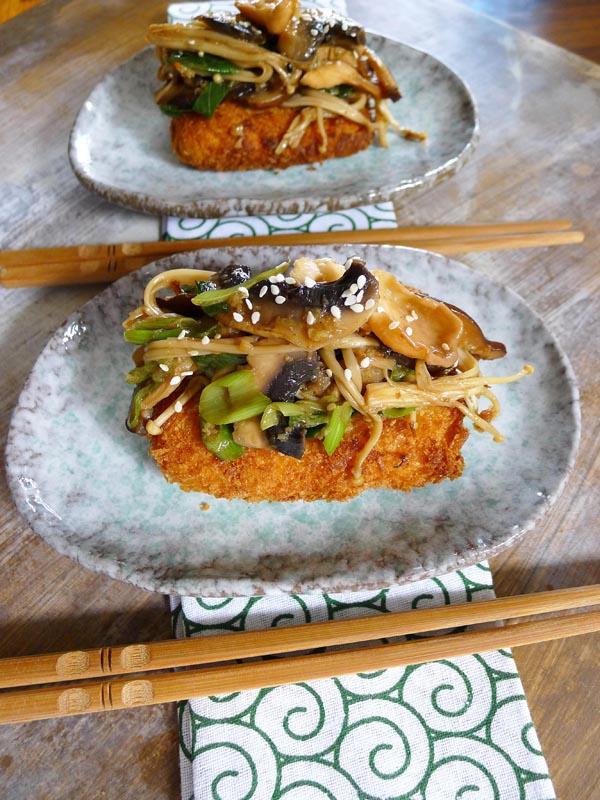 tofu and mushrooms 2