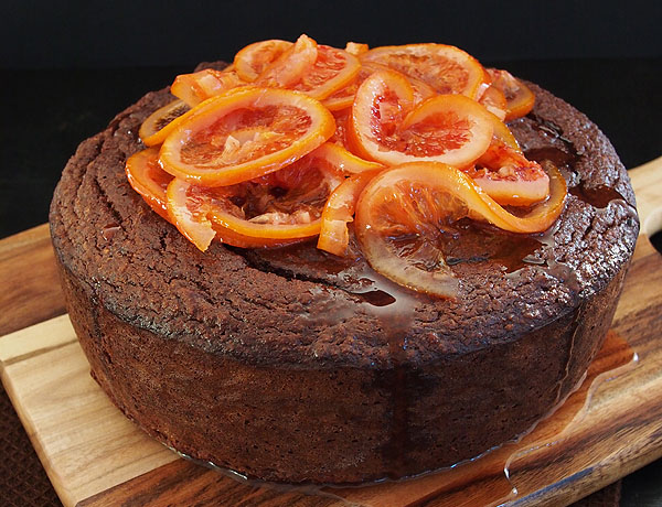 Flourless Blood Orange & Chocolate Cake Recipe