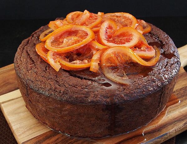 Flourless Blood Orange & Chocolate Cake Recipe