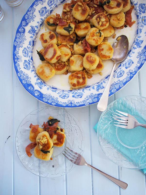 pan fried gnocchi & prosciutto
