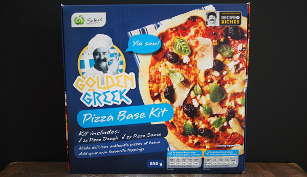 Golden Greek Pizza Base Kit, Recipe to Riches