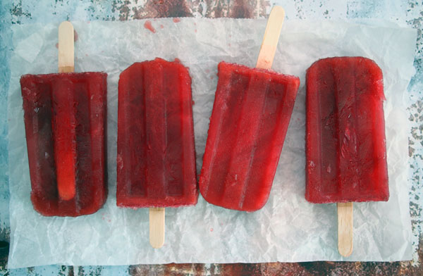 Blood Orange Negroni Popsicles
