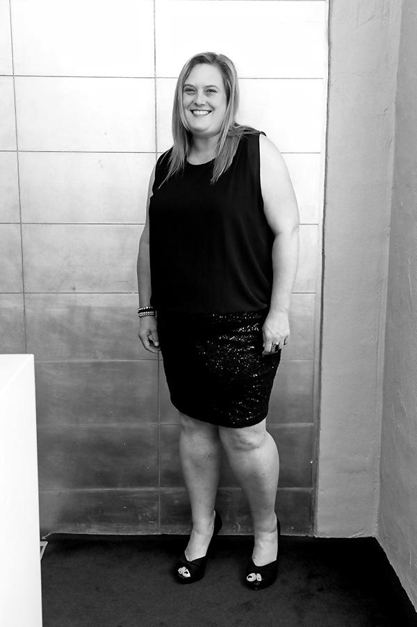 Sara Sequin Dress Belle Curve BW