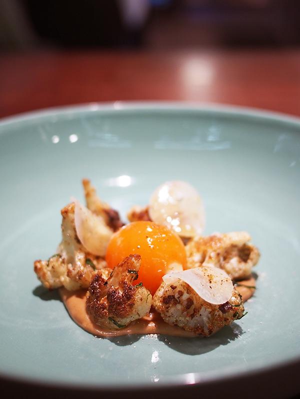 Momofuku Seiobo egg cauliflower mushroom