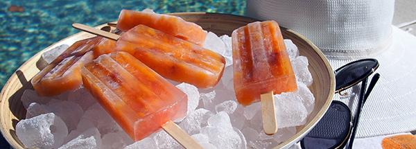 Rose's Peach Ice Blocks