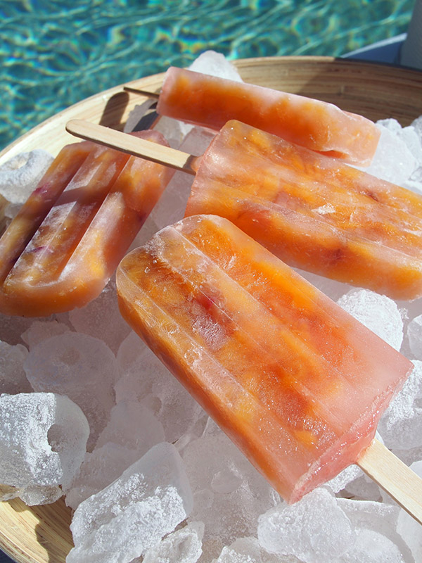 Rose's Peach Ice Blocks