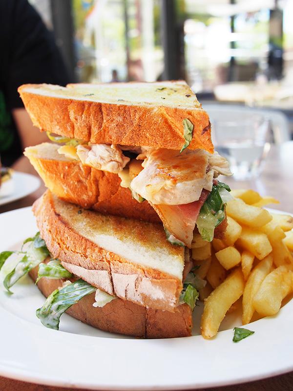 Post Box Cafe Caeser Sandwich