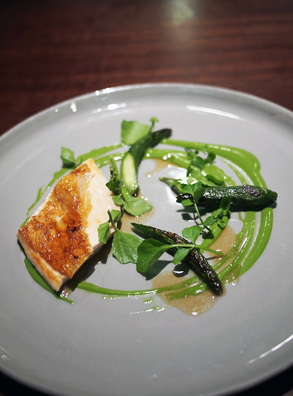 Momofuku Seiobo chicken cucumber waercress