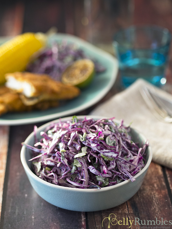 healthy lime slaw