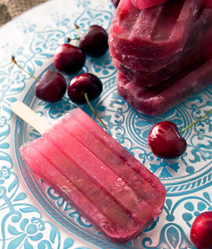 Cherry Cola Popsicles | www.bellyrumbles.com