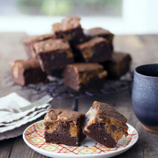 Chocolate Banana Brownies with Dulce De Leche