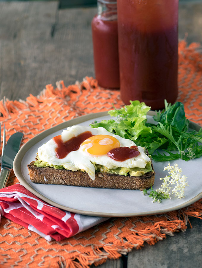 Chilli Plum Sauce Recipe, served here on toasted sourdough with avocado and egg | www.bellyrumbles.com