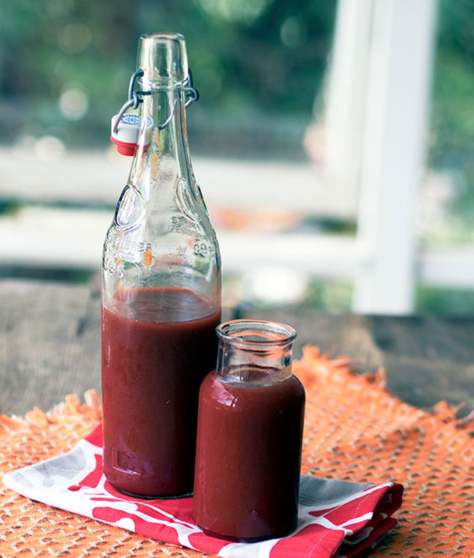 Chilli Plum Sauce Recipe, easy to make with a mellow chilli heat   www.bellyrumbles.com