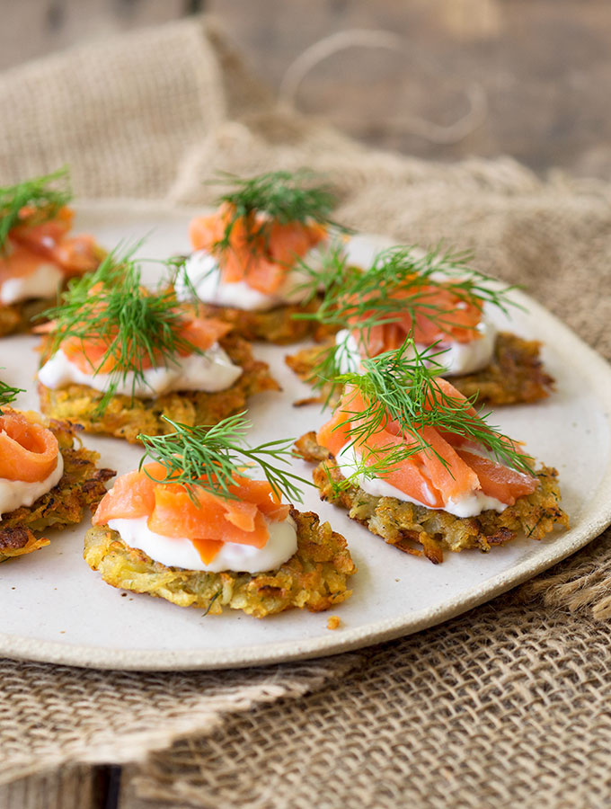 smoked trout potato rosti canap