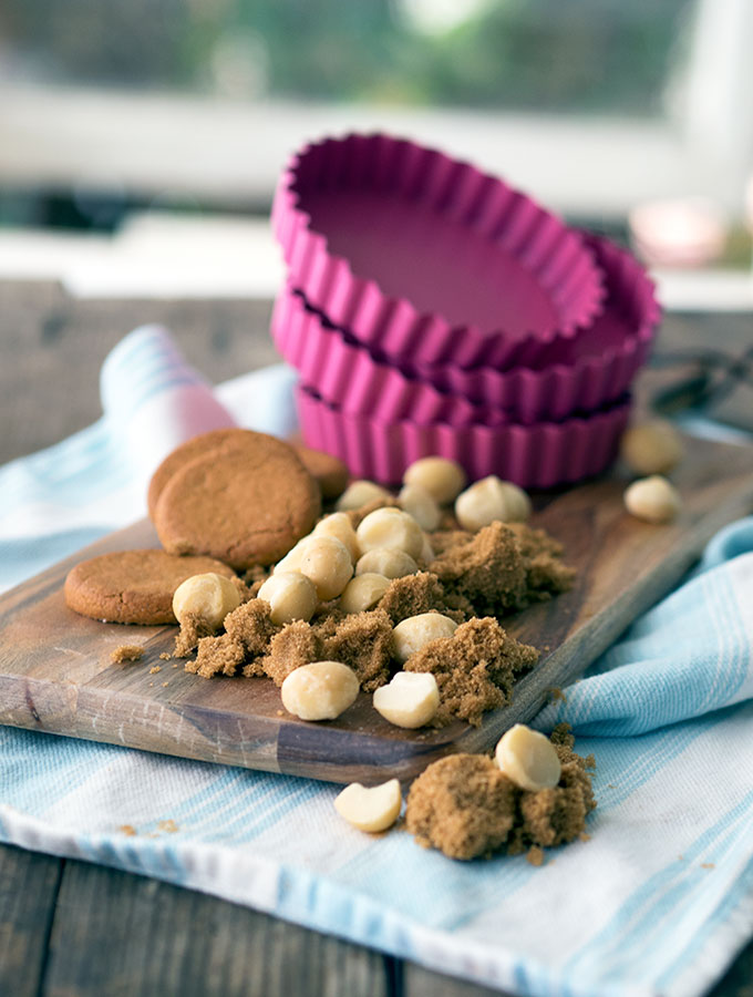Ingredients for Macadamia Nut Tarts | www.bellyrumbles.com