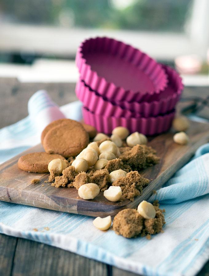 Ingredients for Macadamia Nut Tarts   www.bellyrumbles.com