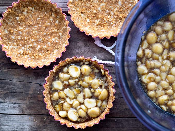 Making Macadamia Nut Tarts