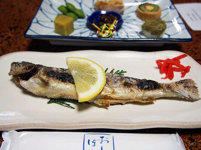 Grilled trout (char)