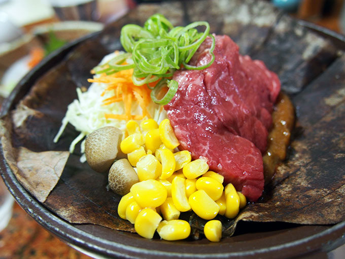Hoba miso Shinsyu beef steak