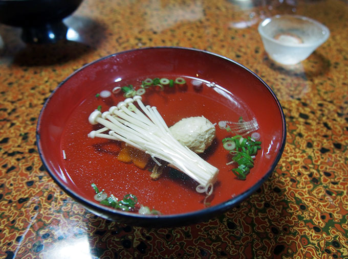 Local chicken Osuimono soup