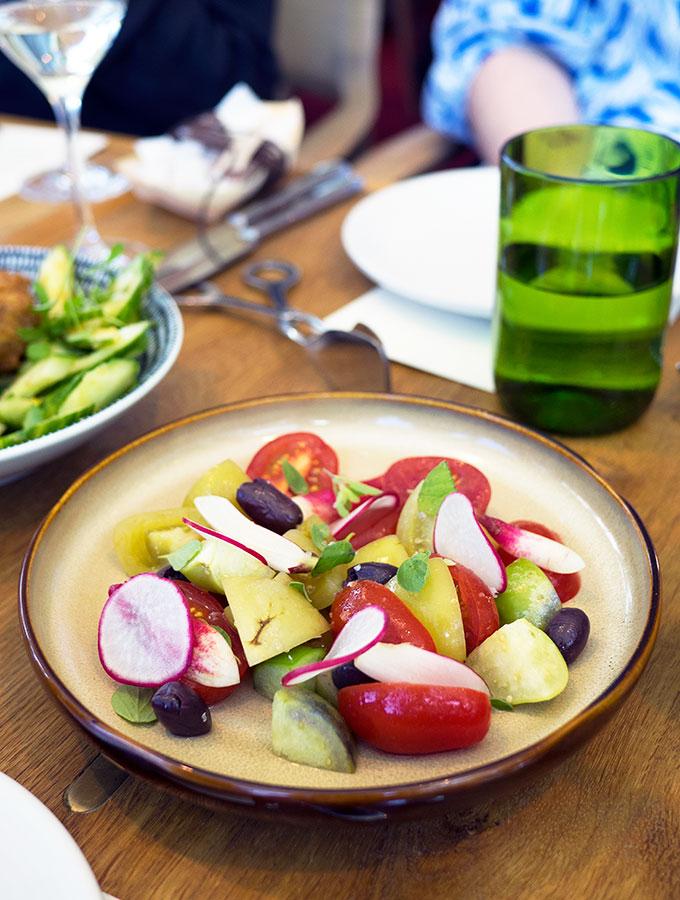Chiswick Green Tomato Salad | www.bellyrumbles.com