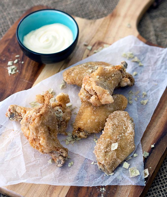 Wasabi Chicken Wings with Yuzu Mayonna