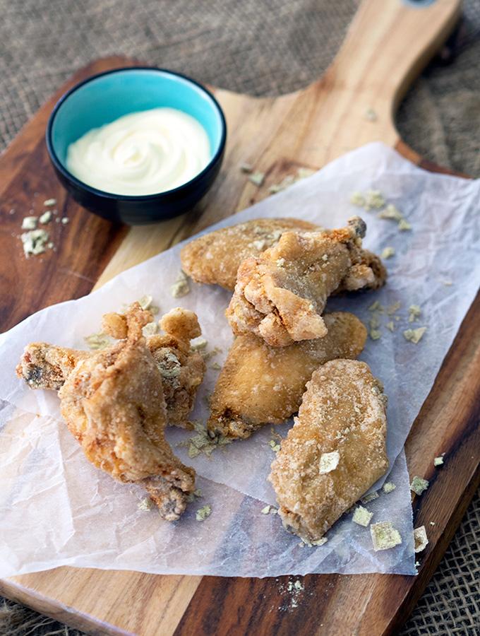 Wasabi Chicken Wings with Yuzu Mayonnaise & Wasabi Salt | www.bellyrumbles.com
