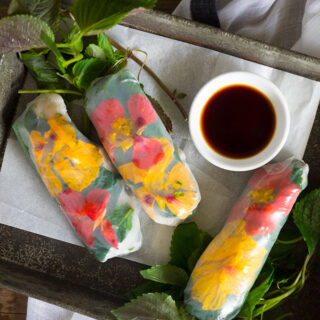 Flowery Fresh Spring Rolls, a squatter & rancid sausages