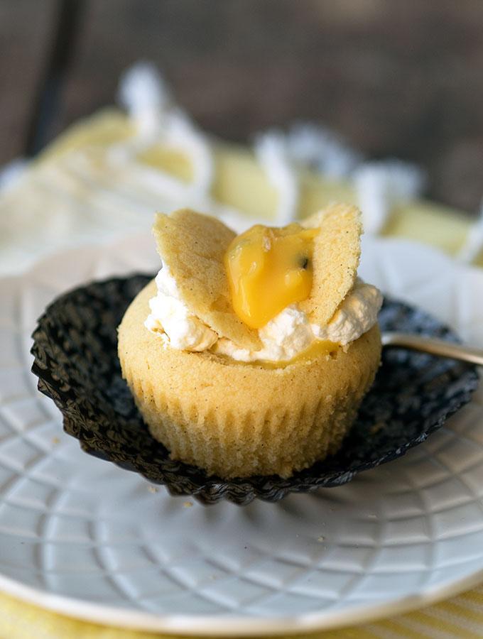 Passionfruit Curd Fairy Cakes