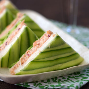 Chic Salmon and Cucumber Sandwiches