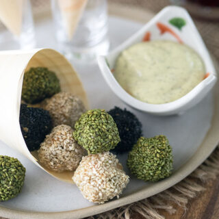 Sesame Chicken Balls Japanese Style Canapes