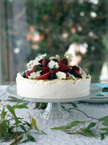 The Cheeselova. The love child of a light and fluffy white chocolate cheesecake and pavlova.