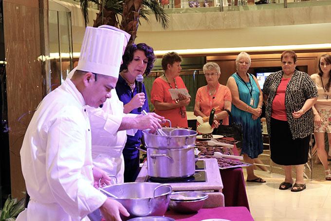 Princess Cruises Chocolate Demonstration