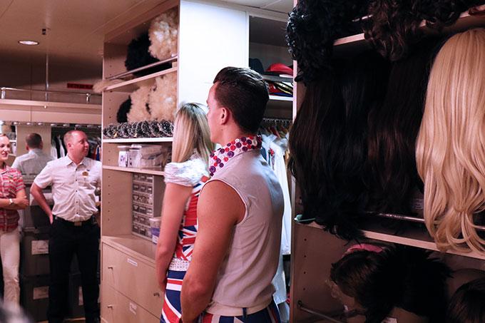 Dawn Princess Dressing Rooms