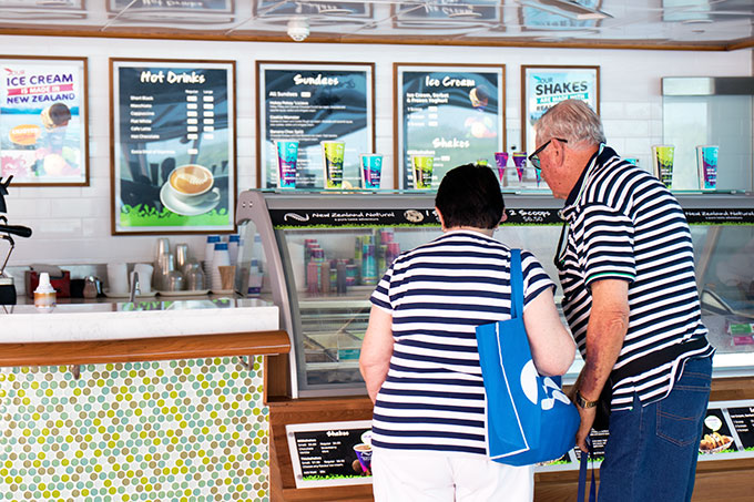 Sea Princess New Zealand Ice Cream