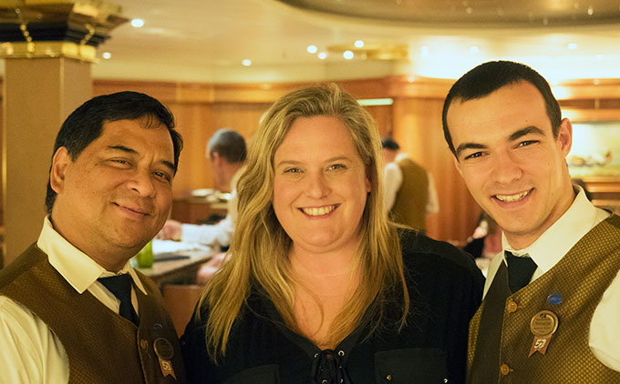 Sara McCleary on board Dawn Princess