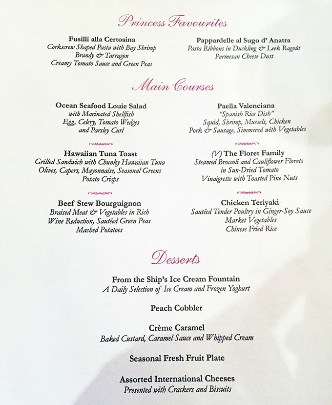 Dining On The Sea Princess What Is Cruise Food Really