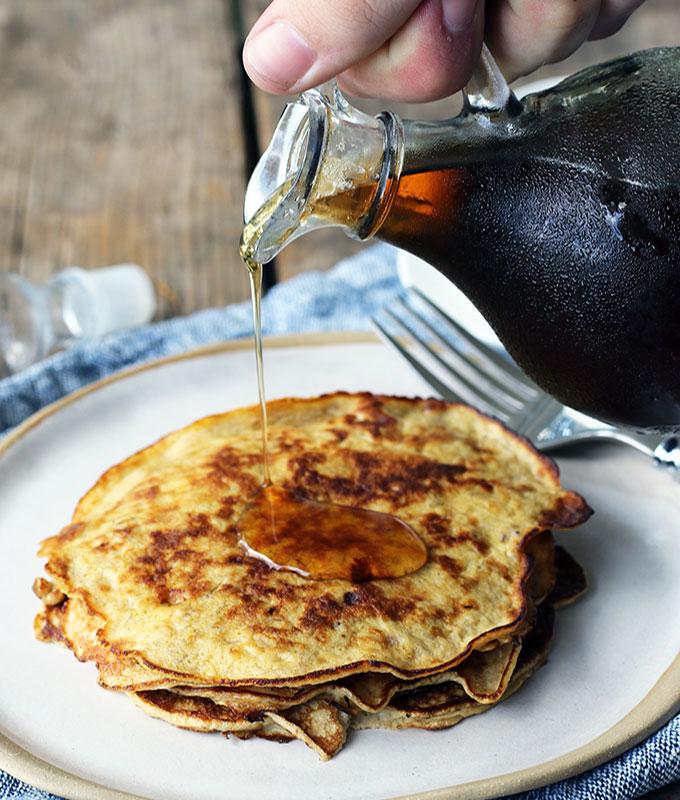 Two Ingredient Banana Pancake Recipe