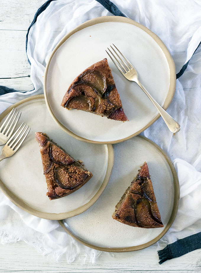 Fig Upside Down Cake - Gluten Free and super easy to make!
