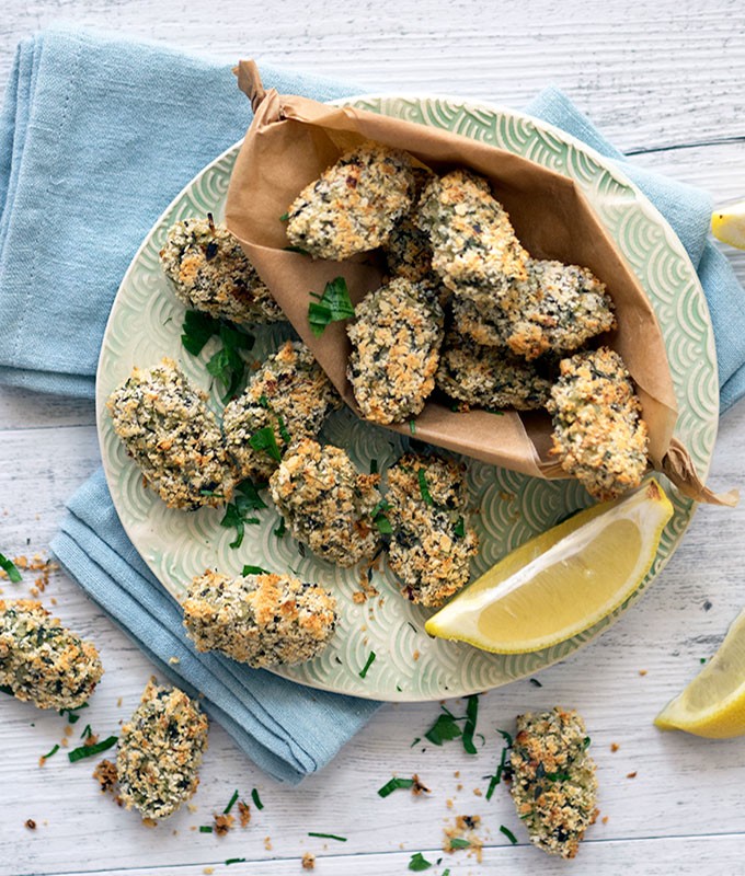 Healthy Oven Baked Zucchini & Mushroom Croquettes